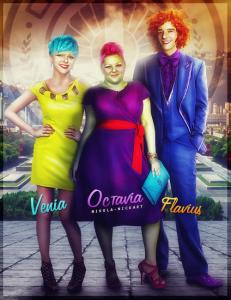 FanArt de Venia, Octavia e Flavius
