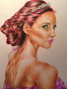 Retrato de América Singer inspirado na atriz Audrey Hollister
